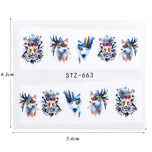 Image 2 - 15pcs Mixed Sticker Nails Art Slider Set Flamingo Owl Flower Animal Designs Water Manicure Tips Foil Nail Decals CHSTZ659 673 1