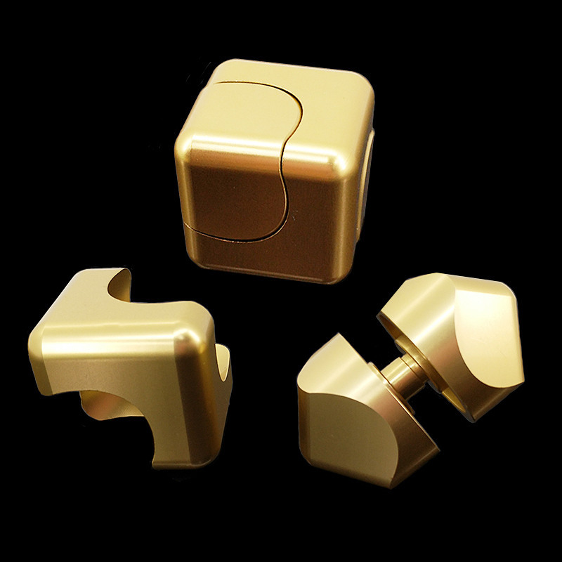 Spinner Cube EDC Anti Stress Cuber Mini Square Finger Spinner Toys For Autism&ADHD Puzzle Gift For Adult TH0074