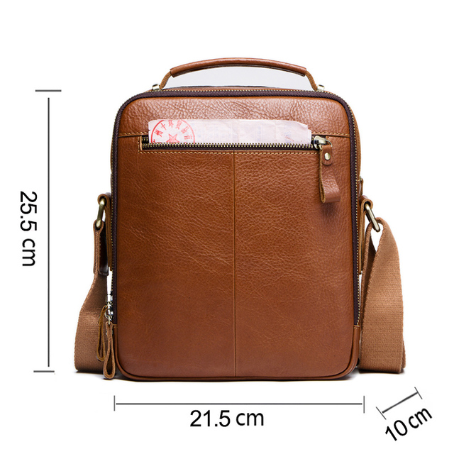 CONTACT'S casual men's messenger bags genuine leather shoulder bags for man luxury brand male crossbody bag fashion for ipad 1
