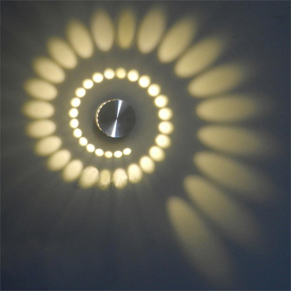 Excelvan 3W Spiral LED Wall Sconce Wall Lamp Night Light ...