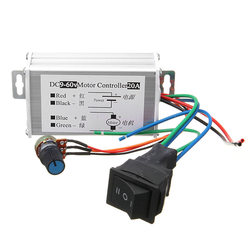 цена на DC 12V 24V 36V 48V Soft Start Reversible Motor Speed Control PWM Controller PWM High Quality