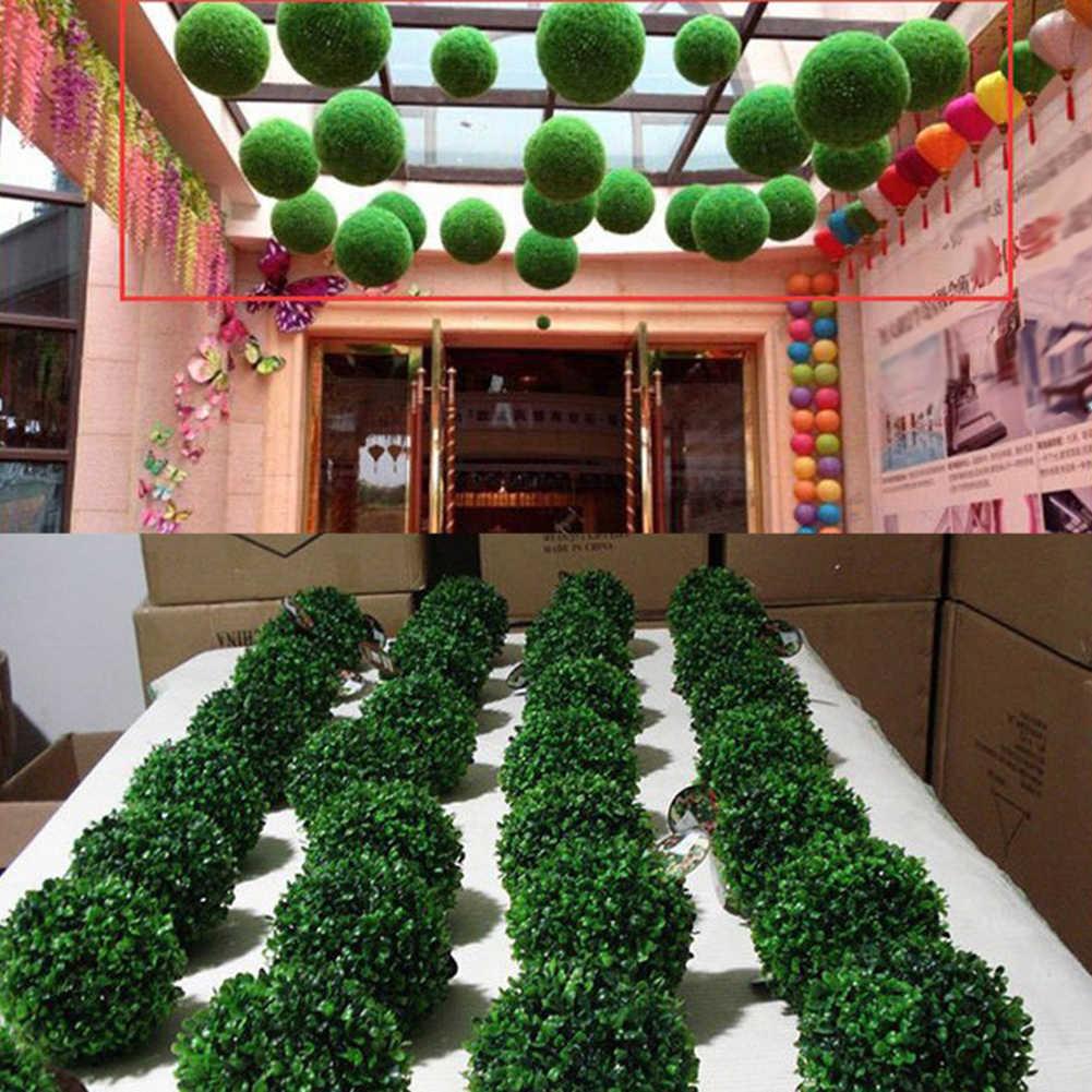 Kunstmatige Greenery Gras Bloem Bal Imitatie Huwelijksceremonie Party Decor tuin tool Ronde, Lichtgewicht, Party Decoratie