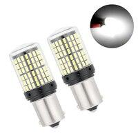 2 шт светодиодный лампы 1156 3014 144SMD BA15S BAU15S PY21W светодиодный указатели поворота лампы Canbus Нет Ошибка Amber желтый туман свет без вспышки