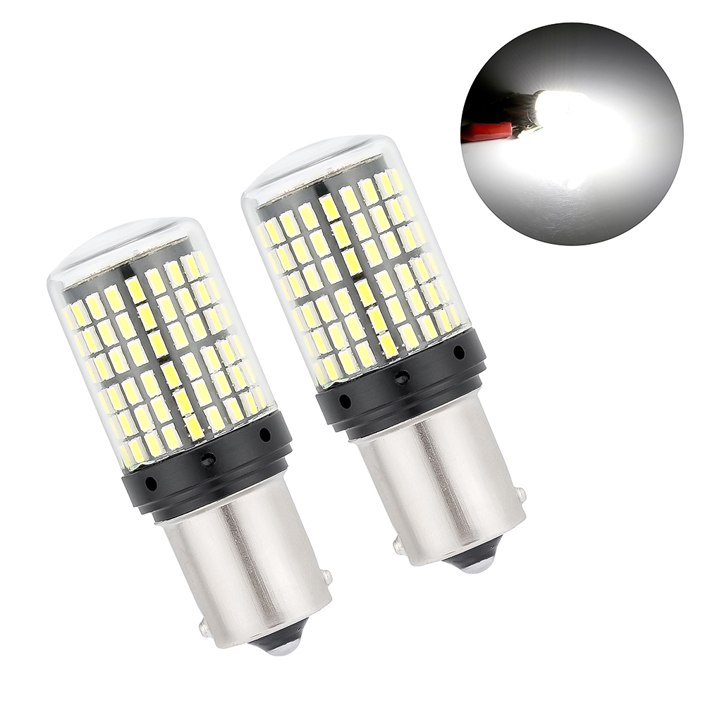 2PCS <font><b>Led</b></font> Bulbs 1156 3014 144SMD BA15S BAU15S <font><b>PY21W</b></font> <font><b>LED</b></font> Turn Signal Lights Bulb <font><b>Canbus</b></font> No Error Amber Yellow Fog Light No Flash image
