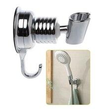 Adjustable Sucker Shower Head Stand Bracket Holder With Towel Hook Bathroom