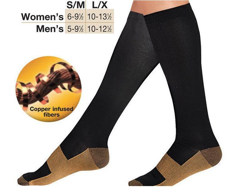 ..Miracle copper socks as anti-fatigue compression socks for anti-varicosity soothe achy leg reduce swelling slimming leg socks
