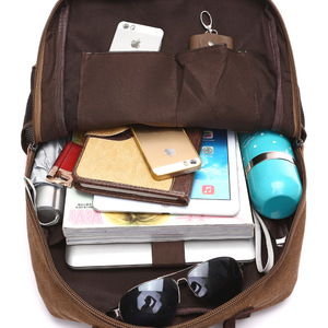 Image 5 - Unisex Vintage Rucksack Männer Reisetaschen Leinwand Tasche Mochila Masculina Laptop Rucksäcke Frauen Schule Tasche für Teenager Zurück Pack