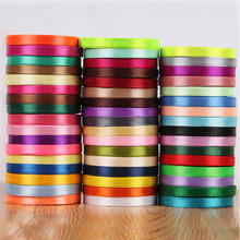 10mm Width multi colour Cloth Satin Ribbons Wedding Party Decoration Gift Craft Sewing Fabric Ribbon Cloth Tape DIY 25 yard(China)