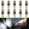 10 x Lâmpada Largura T10 24SMD 4014 LED Car Canbus Livre de Erros Luz Da Placa de Licença