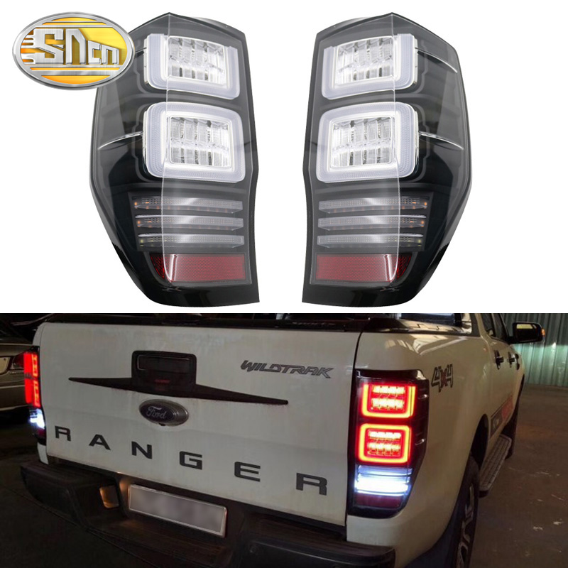 FOR FORD RANGER T6 T7 T8 2012 2017 HIGH QUALITY REAR LED TAIL LAMP REAR LIGHTS TURN SIGNAL BRAKE LIGHTS PICKUP CAR in Car Light Assembly from Automobiles Motorcycles