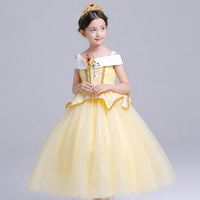 High Quality Girl Aurora Dress Children Sleeping Beauty Princess Costume Kids Belle Party Dress Girls Halloween