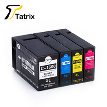 Full Set 4 Color for PGI-1500XL Pigment Ink Cartridge Compatible for Canon Printer MAXIFY MB2050/MB2350