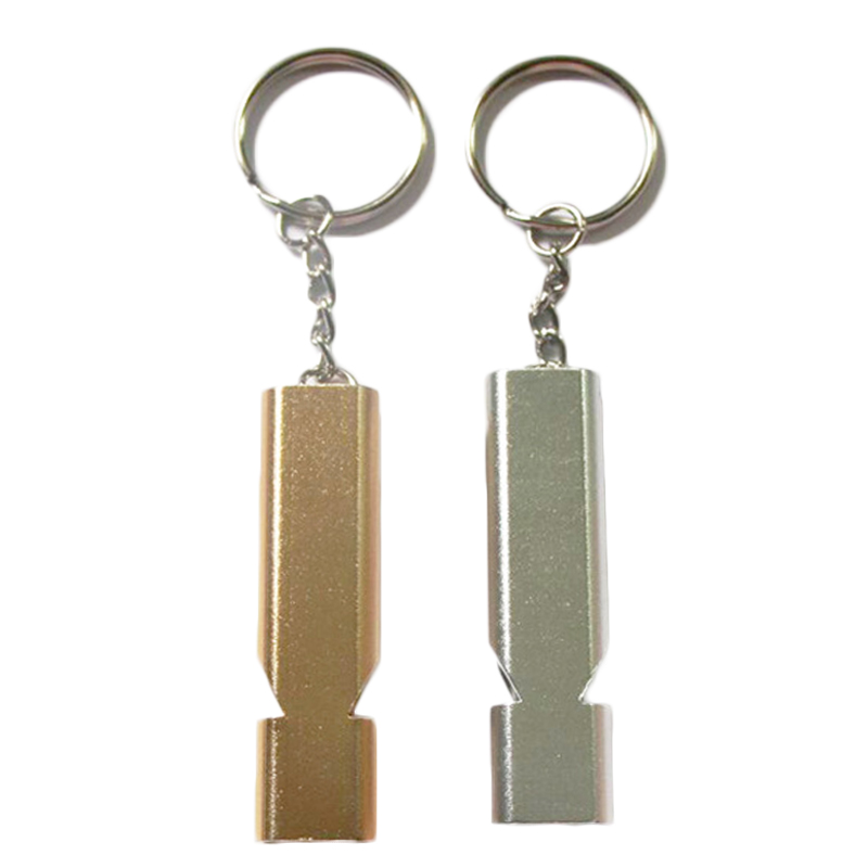 Hot Sale Portable Aluminum Alloy Double Frequency Whistle Outdoor Sports Self Defense Emergency Survival Rescue Tactical Tools