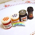 10SETS/LOT Hot Sale Coffee /Jam Mini Food Toys 1:12 Miniature Accessories For Dollhouse