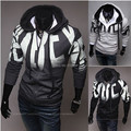 New 2015 Autumn Winter Letter printing Men's hooded Sweatshirts Fashion casual Slim Fit  moleton masculino jacket
