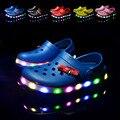 Nuevo 2016 European Fashion fresco zapatos de los niños de dibujos animados caliente de las ventas LED niños elegantes zapatos de niñas sandalias zapatos lindos del bebé
