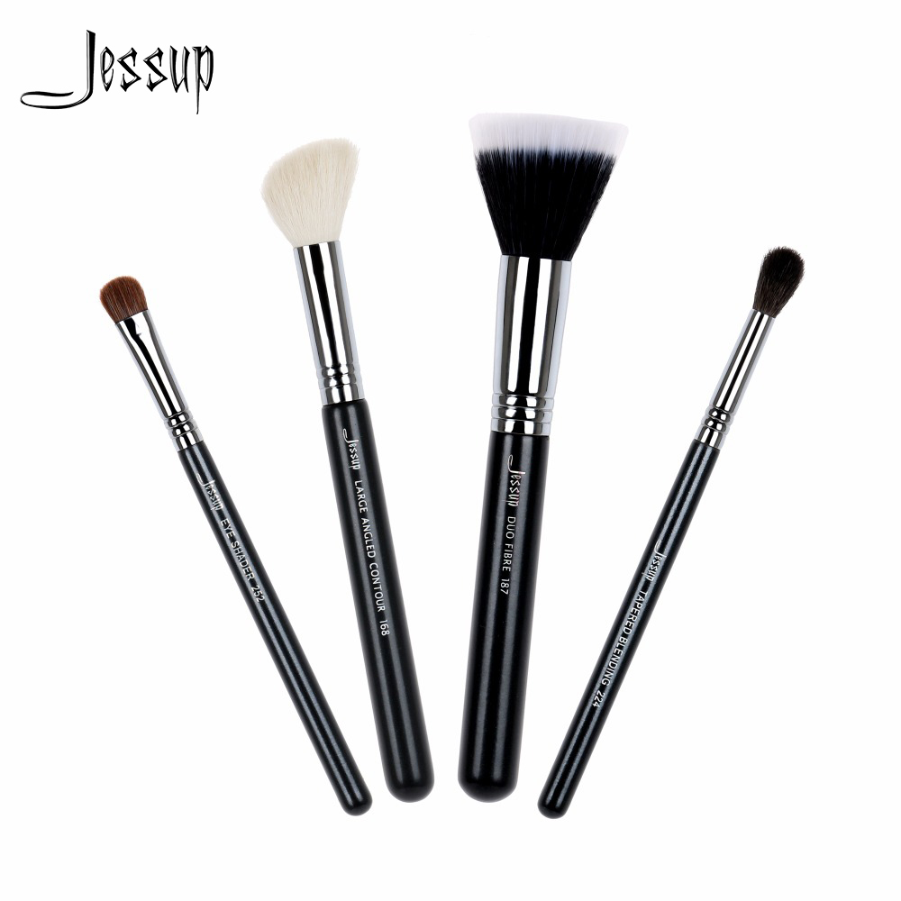 2017 jessup brushes High Quality Makeup Brush Set Foundation Blend Duo Fibre Contour Eye shadow Powder Make Up Tools Kits T123 10pcs tooth brush shape oval makeup brush set multipurpose makeup brushes professional foundation powder brush kits make up tool