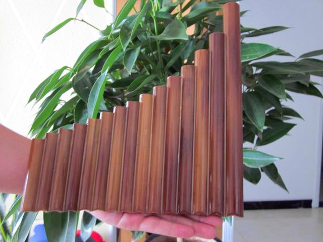 Flauta Pan de 15 Pipas de Bambú Natural
