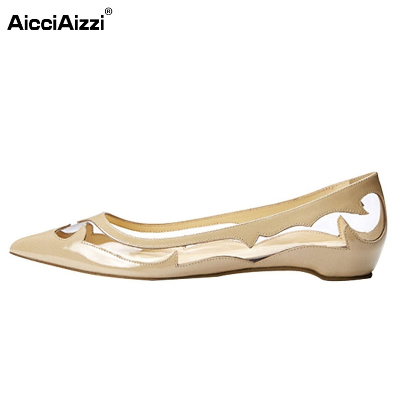 Women Flats Shoes Pointed Toe Casual Shoes Woman Sexy Ladies Fretwork Student Lazy Shoes Ladies Brand Footwear Size 35-46 B228 new brand spring pointed toe ladies shoes fashion snake style women flats casual leather shoes woman big size 34 43