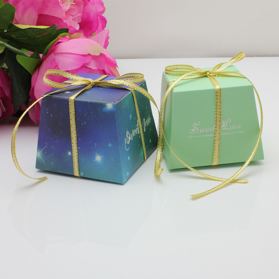 Top 100 Wedding Gifts: 100pcs/lot Romantic Star Gifts Boxes Party Candy Chocolate