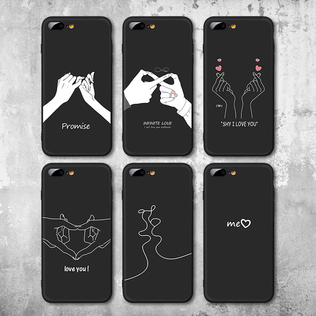 best loved bf752 0ff0b US $2.59 48% OFF|IIOZO Fashion Love Hand Gesture Design Case For Iphone 7 8  7plus 8plus Soft TPU Silicone Couple Shell Cover for Iphone 7 Case-in ...