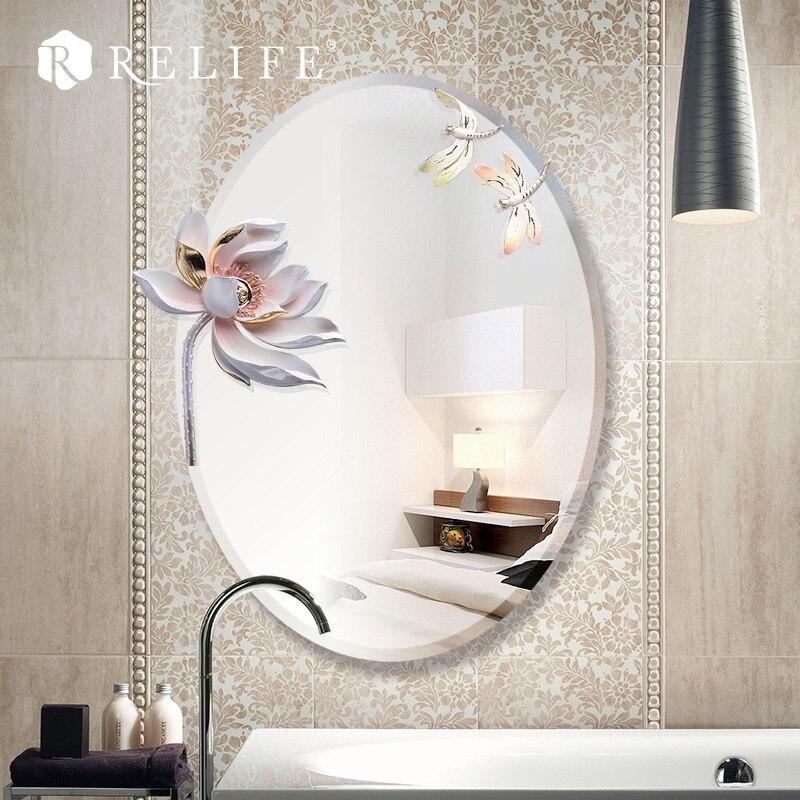 3d Lotus Wall Mirror Home Decor Large Modern Design Decoration For Bathroom Home Decor Modern Mirror Wall Decordecorative Home Decor Aliexpress