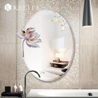 3D Lotus Wandspiegel Wohnkultur Große Modernes Design Dekoration für Bad