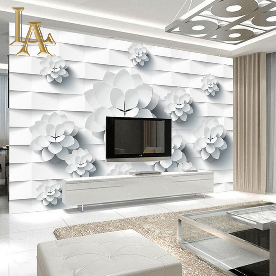 Customize Any Size 3D Modern Simple Geometry Bedroom TV Background Wall Paper Home Decor Living Room Non-woven Mural Wallpaper