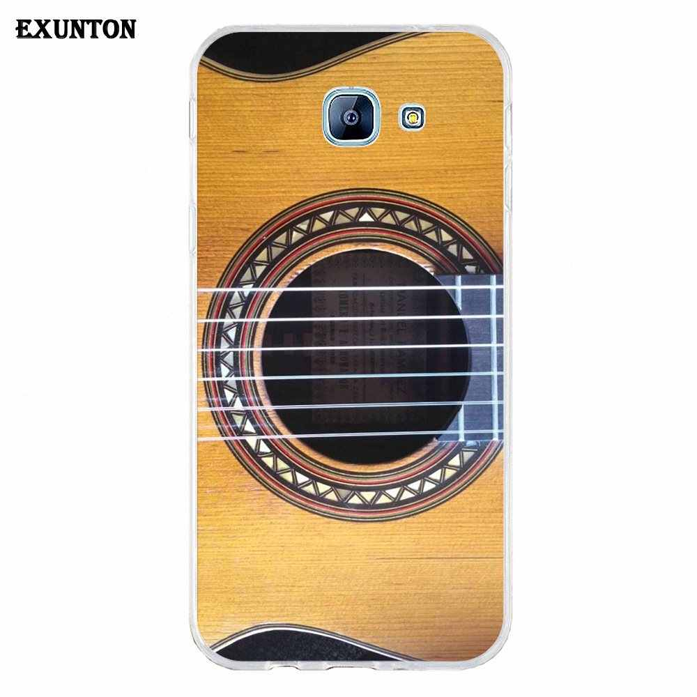 Soft Skin Paintin For Galaxy Alpha Core Prime Note 2 3 4 5 S3 S4 S5 S6 S7 S8 mini edge Plus Super Shining Day Discount Guitar
