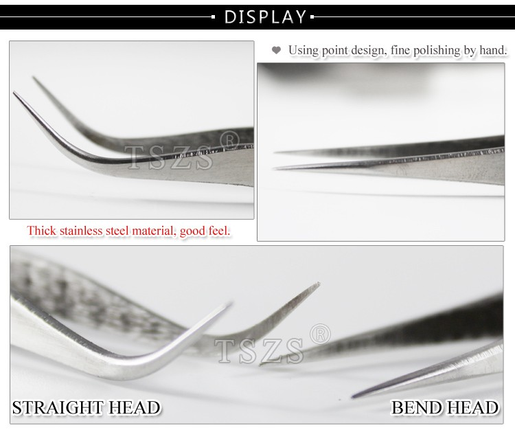 1pcs/lot Curved Straight stainless steel nail Tweezers 1