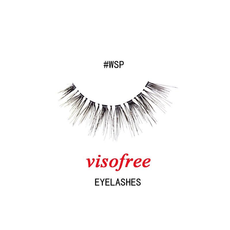 Visofree Eyelashes False Human Hair Lashes Super Realistic Natural Lashes Pure Handmade Eyelashes Makeup Beauty 1pair /box #WSP