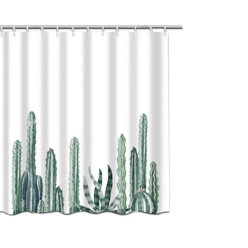 1pc Shower curtain Cactus pattern 3D high definition ...
