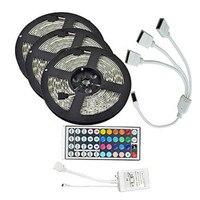 15M SMD3528 Waterproof RGB 900 LED Strip Tape Light Kit + 44 Keys Controller + Cable Connector DC12V