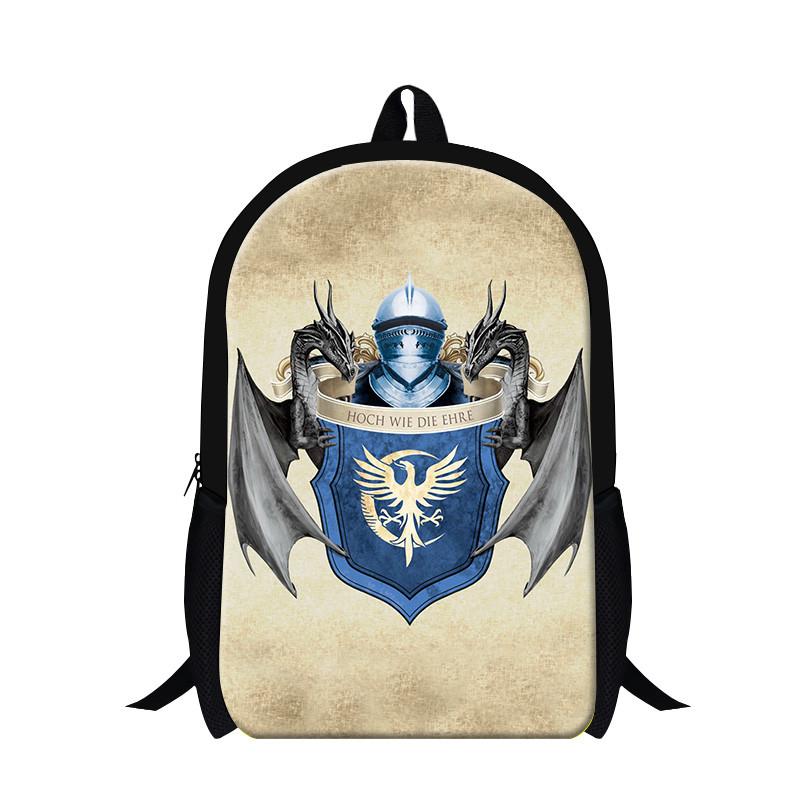 TV Series Game of Thrones Winter Is Coming Printed Backpack Custom Kid\'s School Bag Best Gifts For Children
