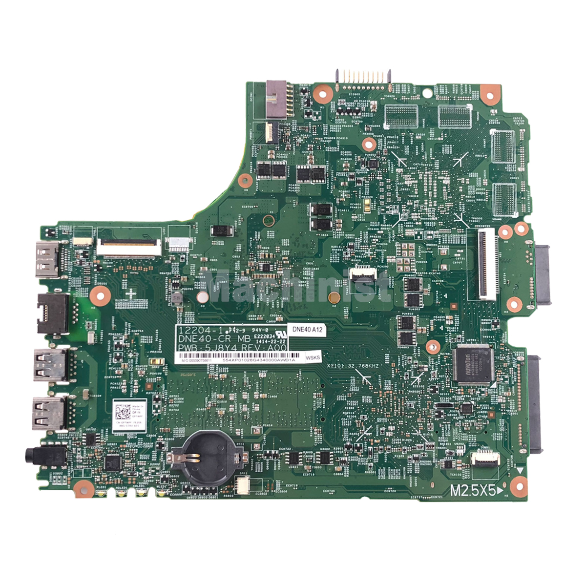 CN-0PTNPF PTNPF FOR DELL INSPIRON 3421 5421 laptop motherboard SR10A 1007U mainboard 12204-1 DNE40-CR PWB:5J8Y4 REV:A00 1