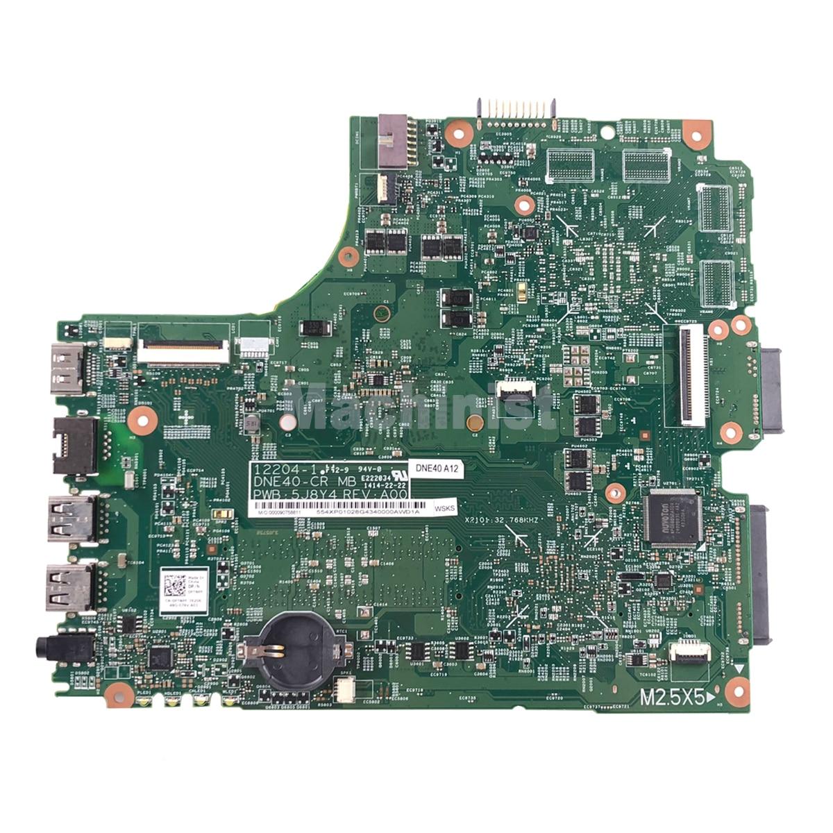 CN-0PTNPF PTNPF FOR DELL INSPIRON 3421 5421 laptop motherboard SR10A 1007U mainboard 12204-1 DNE40-CR PWB:5J8Y4 REV:A00 1