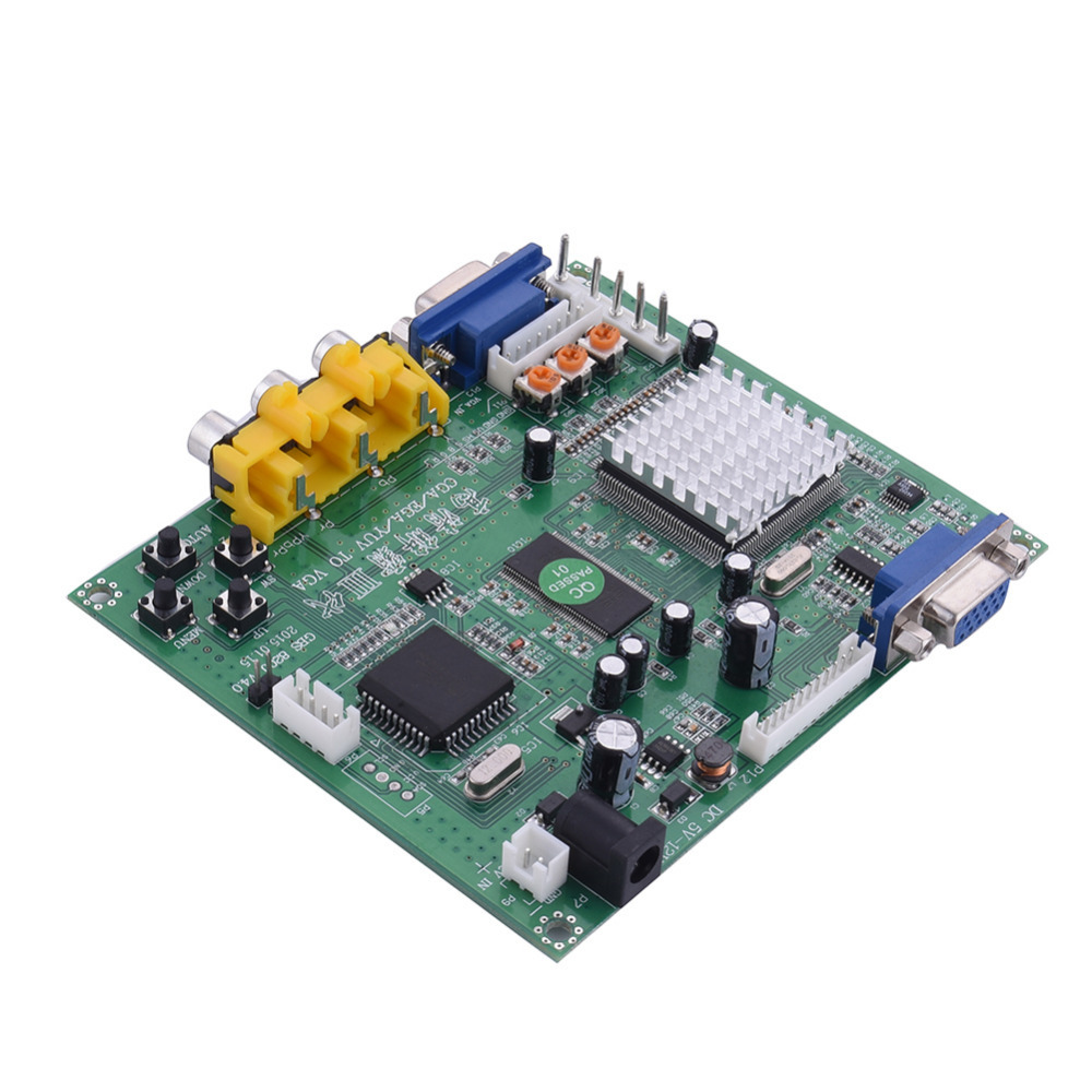 2017 New High Definition Arcade Game CGA/EGA/RGBS/RGBHV/YUV/YPBPR to VGA HD Video converter board GBS-8200 standard VGA output цена