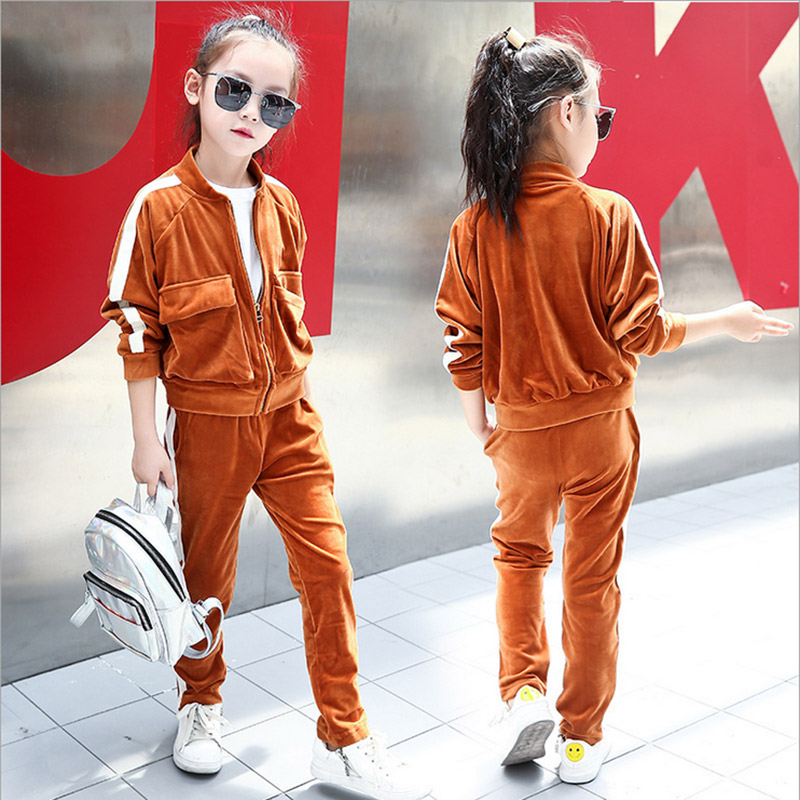 Baby girls Clothing Set 2017 Spring Kids 2 Piece Sets Coat+pant Suits Fall Cotton children's clothing 4 5 6 7 8 10 12 years old kids girls spring fall 2 pcs sets 2017 new baby girls clothing knitted sweater butterfly skirt suit 4 5 6 7 8 9 10 11 12 13
