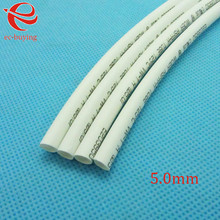 Heat Shrink Tube White Tube Heat-Shrink Tubing Diameter 5mm Thermo Jacket Wire Wrap Insulation Materials  Element 1meter /lot