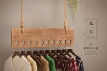 Loja de roupas Moda feminina retro mostrar rack cabide Na parede, no tetO para pendurar display