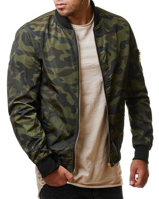 Bismark Pinto Casual Camouflage Bomber Jacket