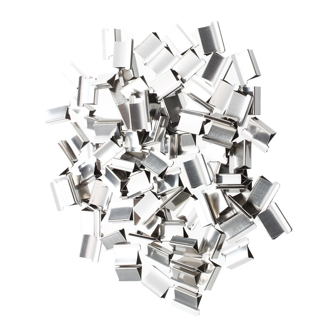 100 Pcs 15mm X 10mm X 5mm Metal Reusable Refill For Clam Clips Dispenser
