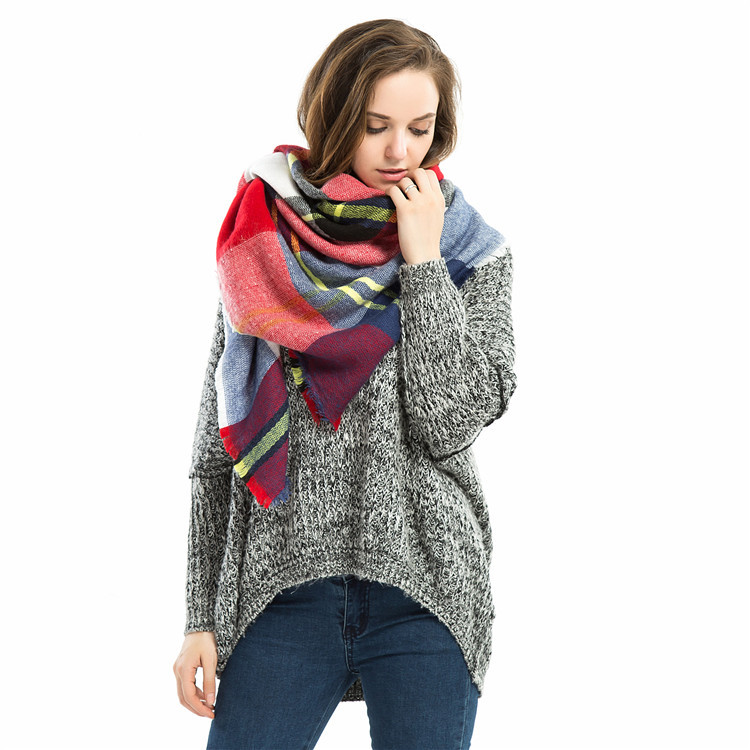 2016 za winter scarf 2016 font b Tartan b font Scarf women Plaid Scarf cuadros New