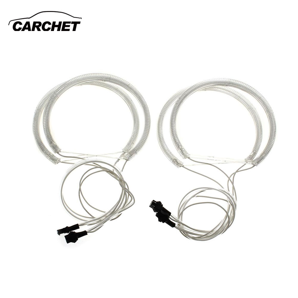 CARCHET Angel Eyes Halo Rings Light for BMW Amber Yellow CCFL AngelEye Headlight Lamp Ring 130 mm 4W for BMW E46/39/36 PROMOTION 2pcs lot gdstime 3pin cooling cpu heatsink fan led red light for computer pc case 92 x 25mm