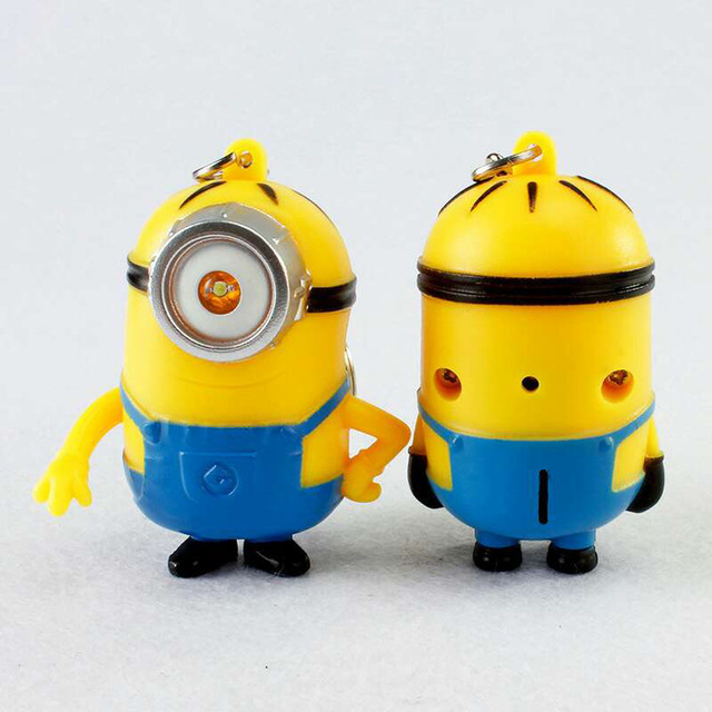Minion Action Figure Toys  Mini LED 3D With Sound