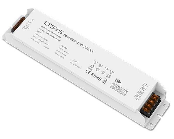 LTECH DMX-150-24-F1M1;150W DMX512/RDM LED driver;AC100-240V input;max 24V/6.25A/150W output DMX Led Driver Push Dim ltech intelligent led driver td 75 12 e1m1 75w 12vdc 6 25a constant voltage triac dimmable led driver triac push dim