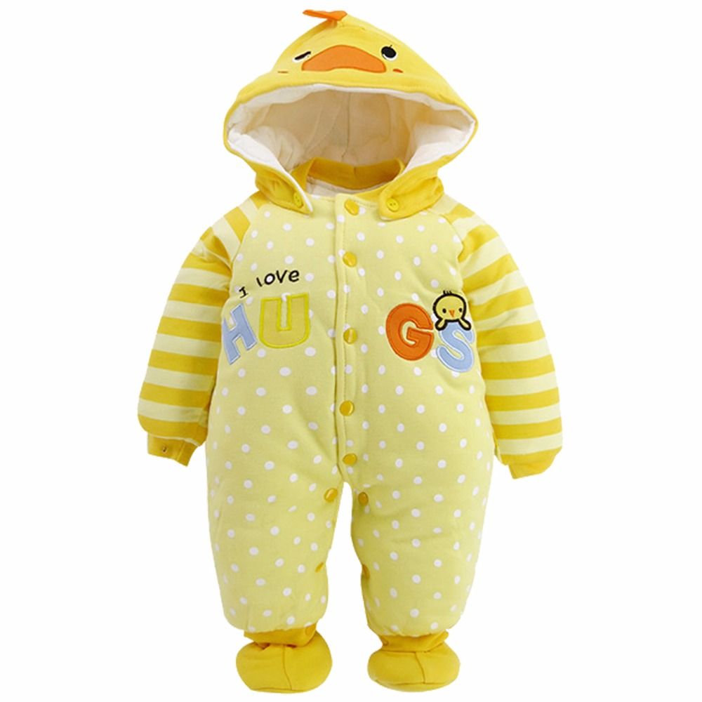 Baby Boys Girls Winter Romper Infant Animal Christmas Jumpsuit Toddle Long Sleeve Hooded Cotton Outwear Newborn Footies Snowsuit winter baby rompers organic cotton baby hooded snowsuit jumpsuit long sleeve thick warm baby girls boy romper newborn clothing