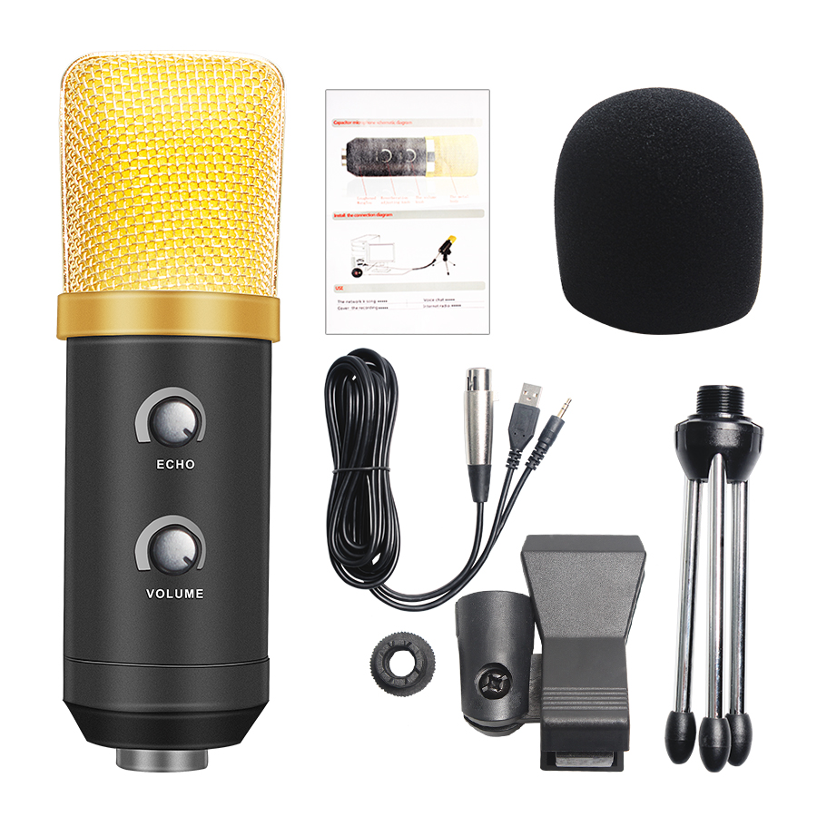 usb wired studio condenser recording microphone upgraded professional vocal recording ktv. Black Bedroom Furniture Sets. Home Design Ideas