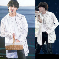 kpop BTS Bangtan Boys fan meeting in Osaka Jintai Heng chiffon shirt Korean girls k pop Sweatshirts Women Hoodies coat