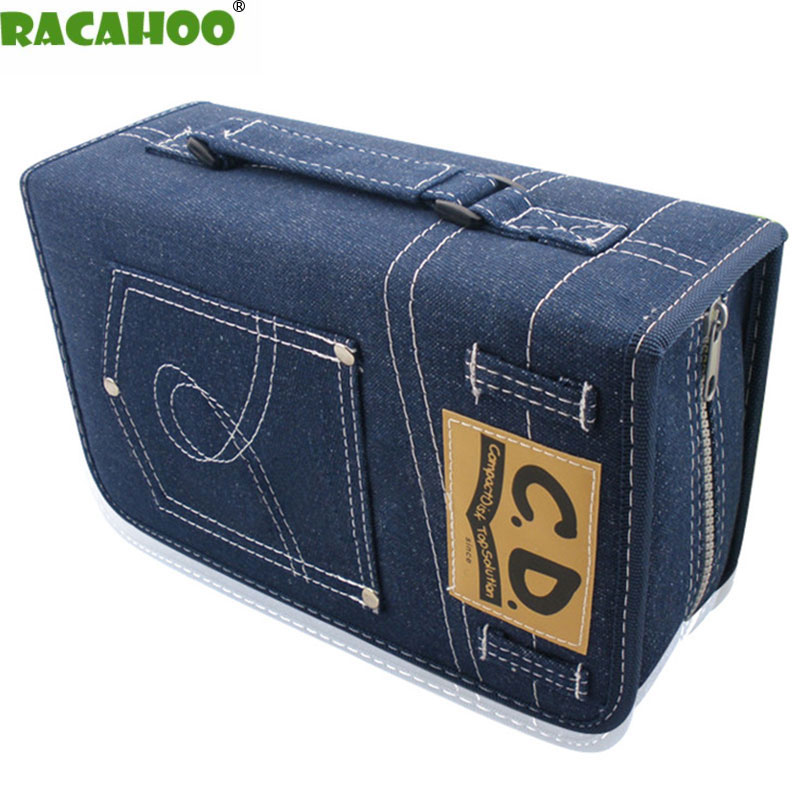 RACAHOO CD Case New DVD / CD Package Large Capacity 128 Sleeve Disc Collection Bag High Quality Case For Car And Home Storage